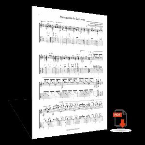"""Sheet music <strong>""""Malagueña de Lecuona""""</strong> – Sabicas"""