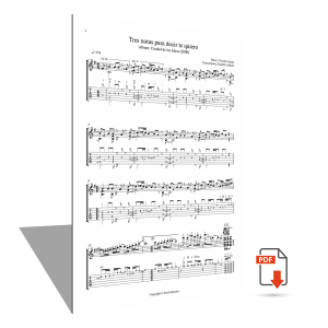 """Sheet music <strong>""""Tres notas para decir te quiero""""</strong> – Vicente Amigo"""